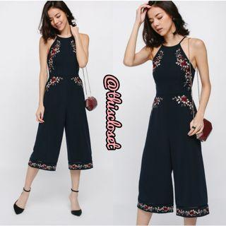 LB Quela Embroidered Midi Jumpsuit