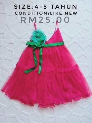Princess Tutu dark Pink Dress