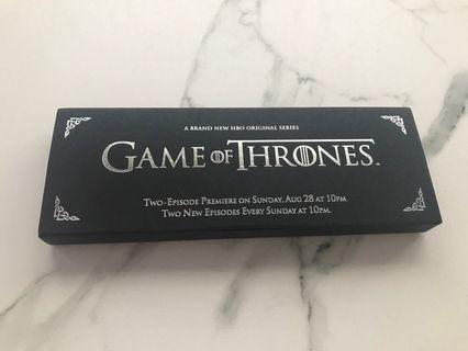 Game of thrones hbo Asia exclusive set of bookmarks