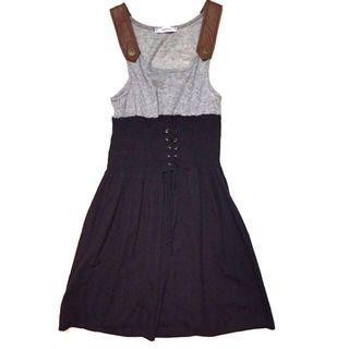 Corset Leather Strap Dress
