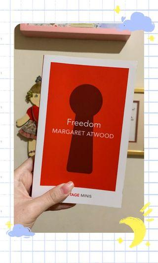 (ENGLISH) ✨ Freedom by Margaret Atwood✨( NEW, GOOD CONDITION)