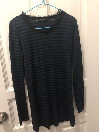 Zara Blue Stripe Top