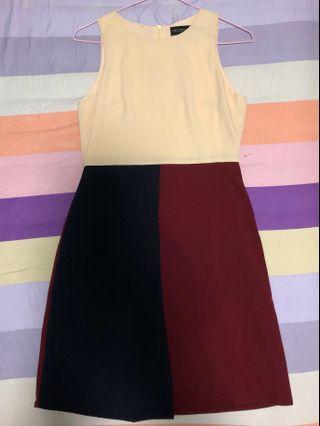 Closet lover dress/ Color block