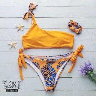 單肩 泳衣 歐美 現貨 可試換 銅鑼灣門市 swimsuit bikini set swimwear