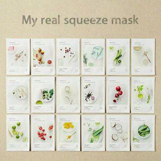 Innisfree Masker 100% original. My Real Squeeze Mask