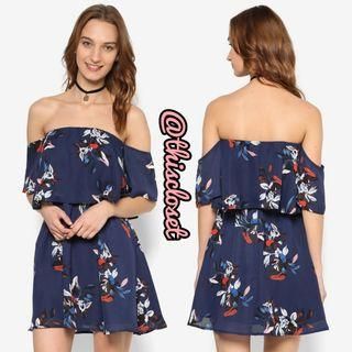 BN Something Borrowed Off Shoulder Floral Dress