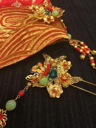 Chinese Style Butterfly and Flowr Hair Pin