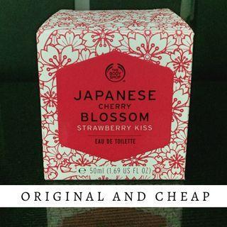 EDT Body Shop original cherry blossom strawberry kiss ASLI murah