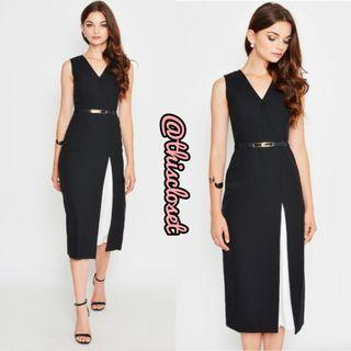 BNIB Love & Bravery Katlyn Slit Midi Dress