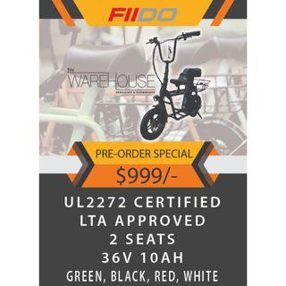 [Pre-Order] UL2272 Certified FIIDO E-scooter PMD