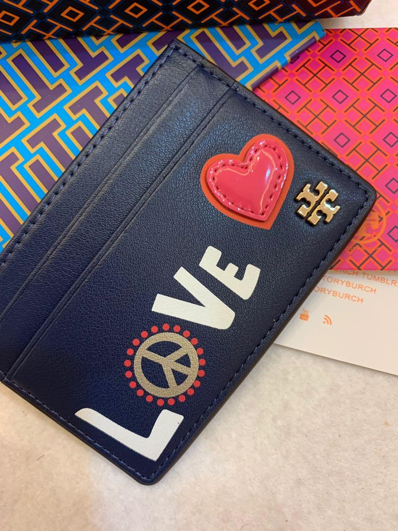Authentic ready Stock Tory Burch card holder coin pouch