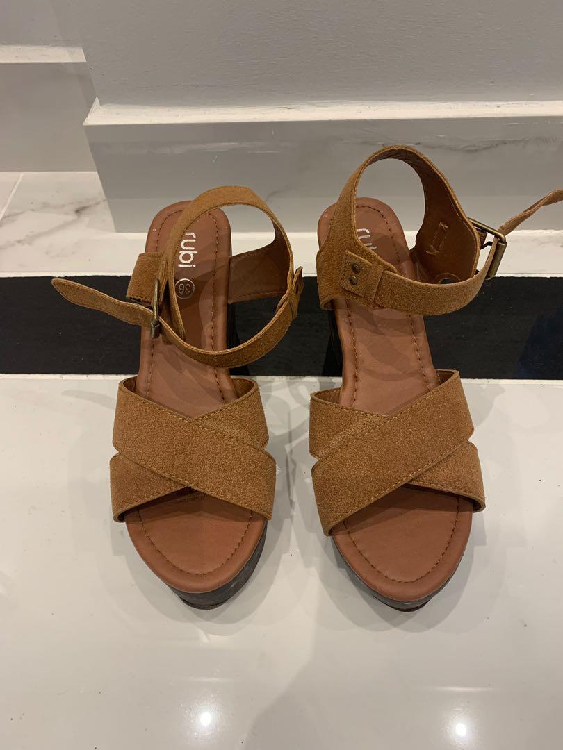 Brown rubi heeled sandals