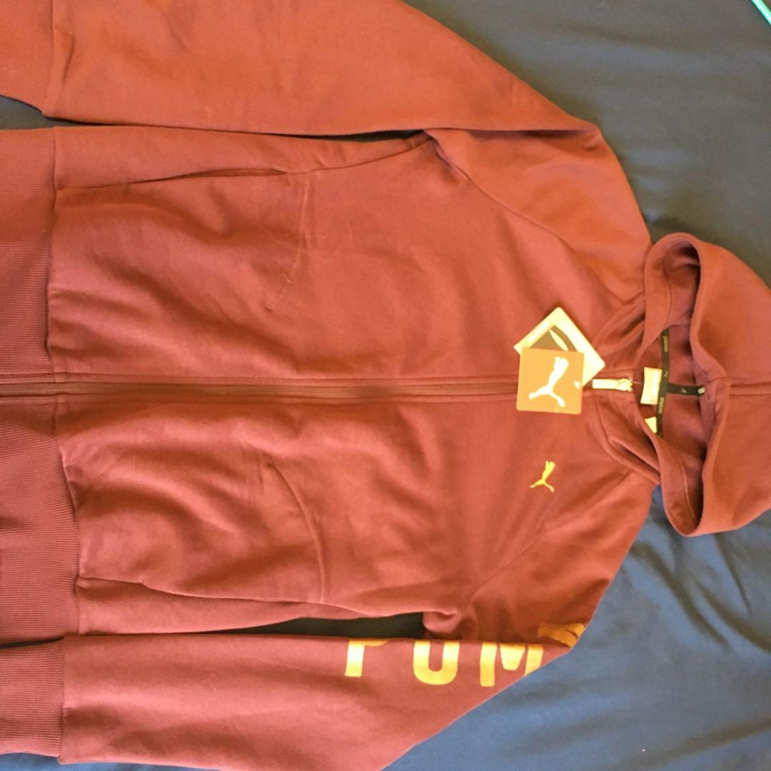 Burgundy puma sweater NEW (originally $65) tags still on