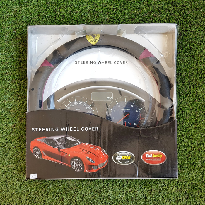 Cover Steer Mobil MBtech Hitam Ungu ferrrari