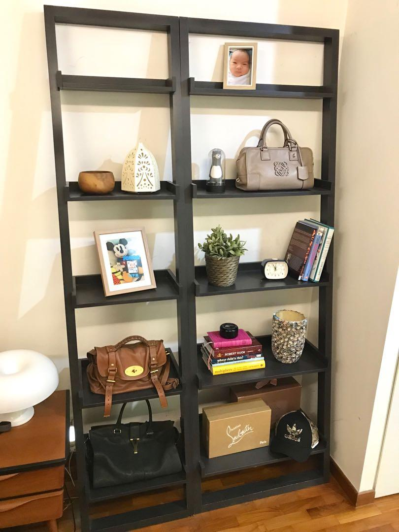 Crate and Barrel Ladder/ Leaning Shelf/ Rack