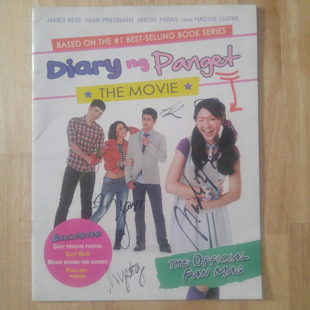 Diary Ng Panget Signed Signature Magazine Book James Reid Yassi Pressman Nadine Lustre Andre Paras Movie with Poster Fan Mag