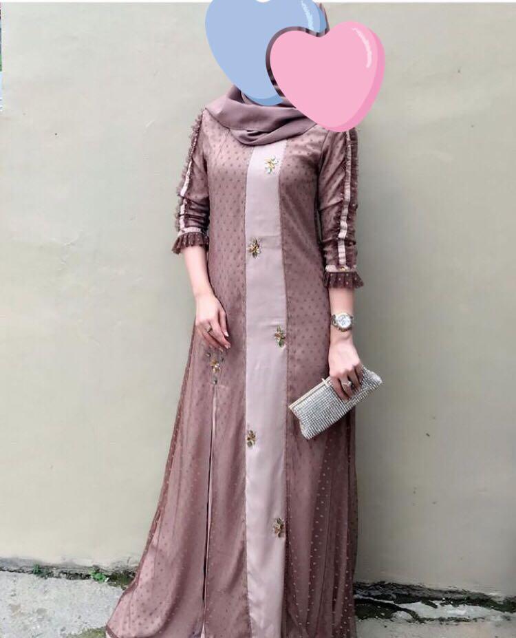 Dress Fesyen Wanita Muslim Fashion Gaun Di Carousell