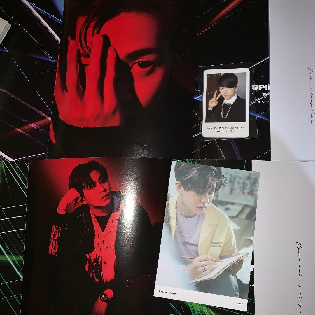 got7 jinyoung youngjae bambam identify photocard lyric card spinning top sleeve cover