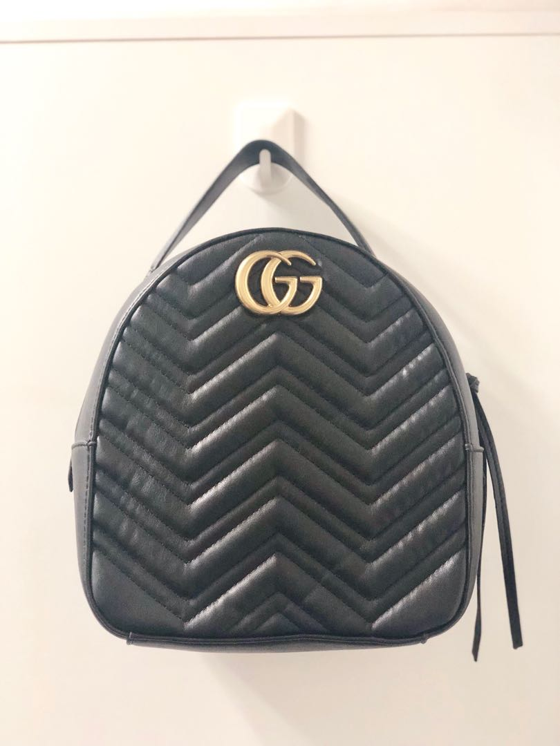 coupon code special price for luxury Gucci Marmont Quilted Leather Backpack