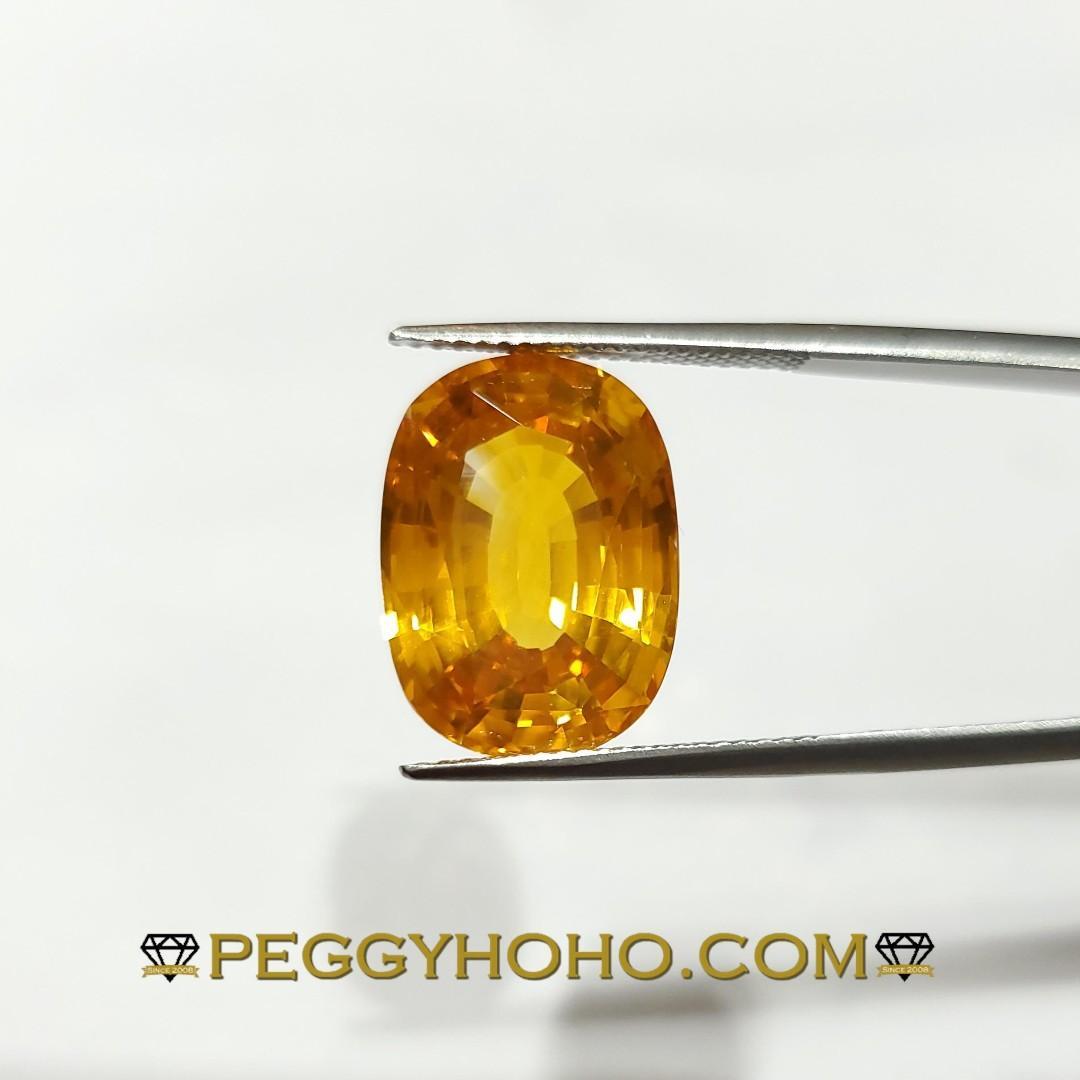 【Peggyhoho】罕有超值天然橙色剛玉 12卡98份 | 附 IGI證書 |激罕 巨形濃彩 Orange sapphire
