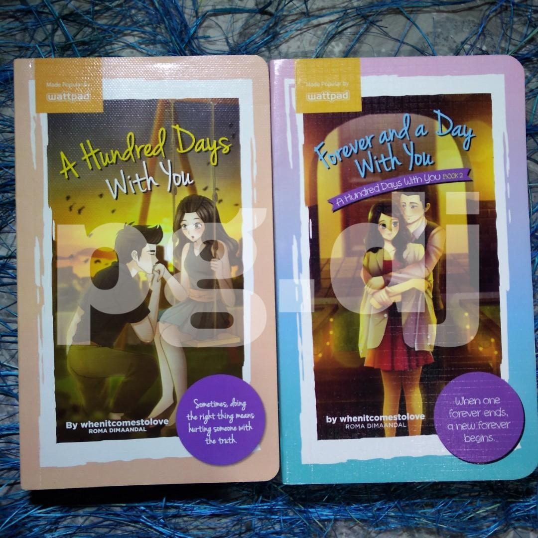 Wattpad Pop Fiction Book: A Hundred Days with You & Forever in a day with You by whenitcomestolove