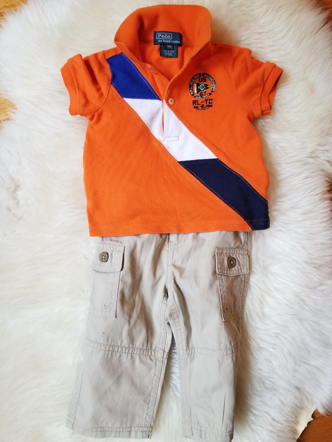 Ralph Lauren rugby top and bottom size 9 months. Pick up 20 Bay or Yorkville or upper beaches. New condition. Each $10 and up or both for $16