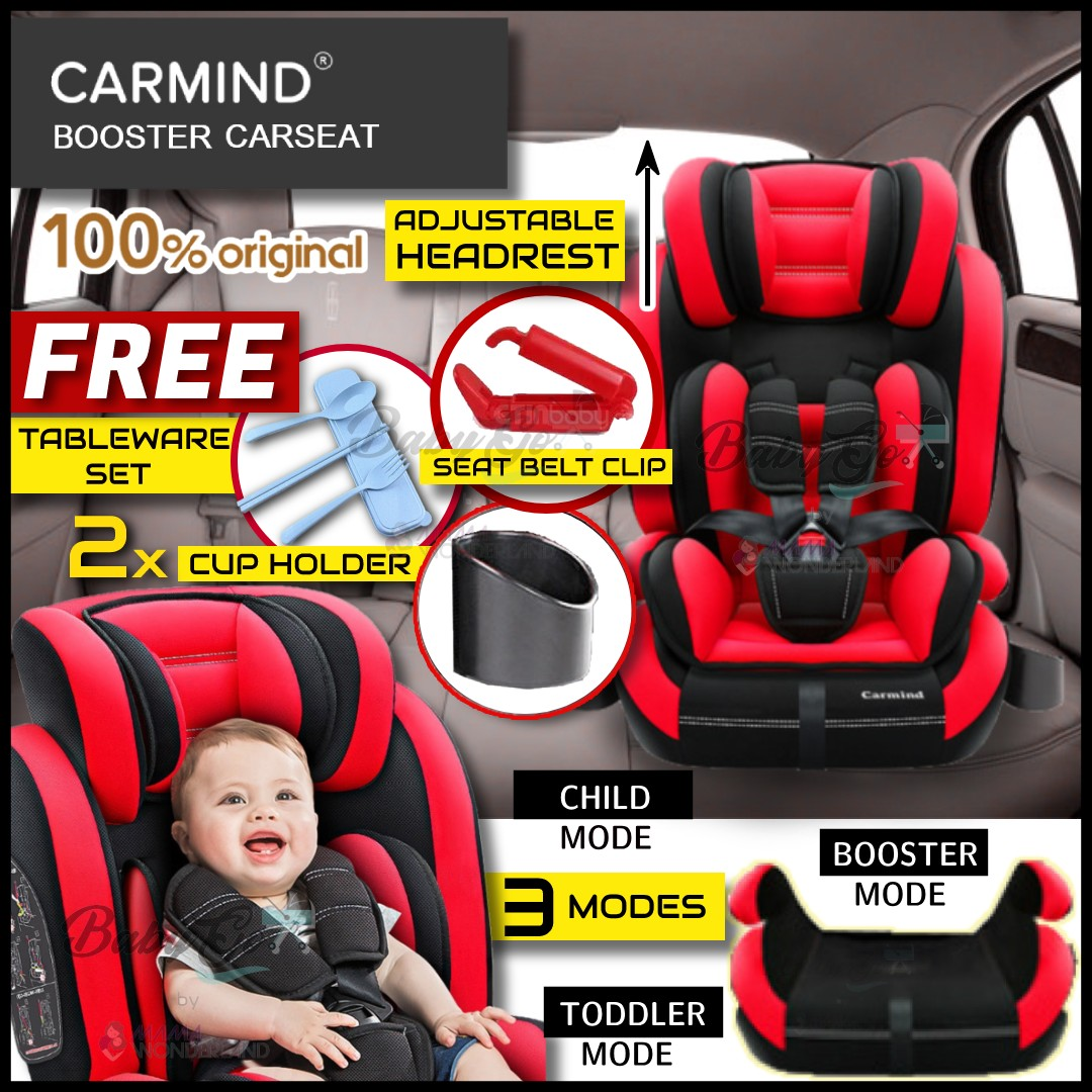 Ready Stock 3 Modes Carmind Booster Carseat 9 Month 12 Years Old Baby Car Seat Safety Seat