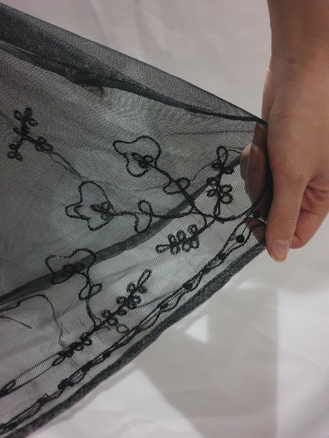 Size M Tree of Life see through embroidered dress #66