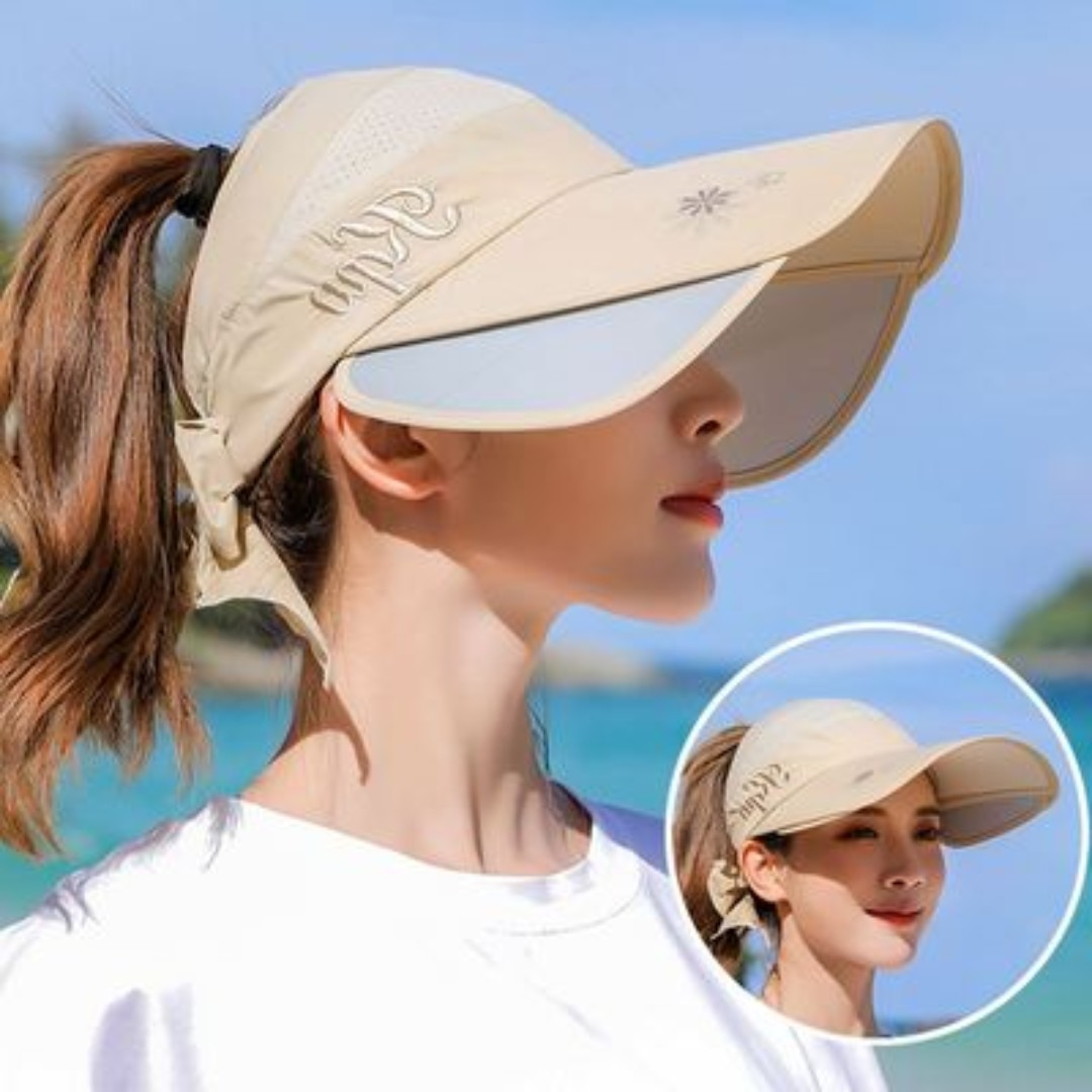 c322827fa Sun Hats Wide Brim Beach Fishing Hat Baseball Cap UPF 50+ Anti UV with  Retractable Visor Unisex With Extra Protection