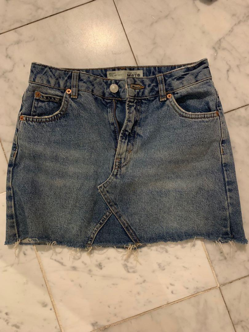 Top shop blue denim skirt size 8/small EUR size 36
