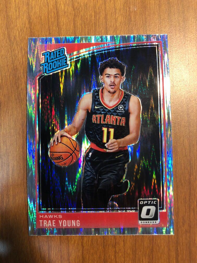 Trae Young 2018 19 Nba Panini Donruss Optic Shock Parallel