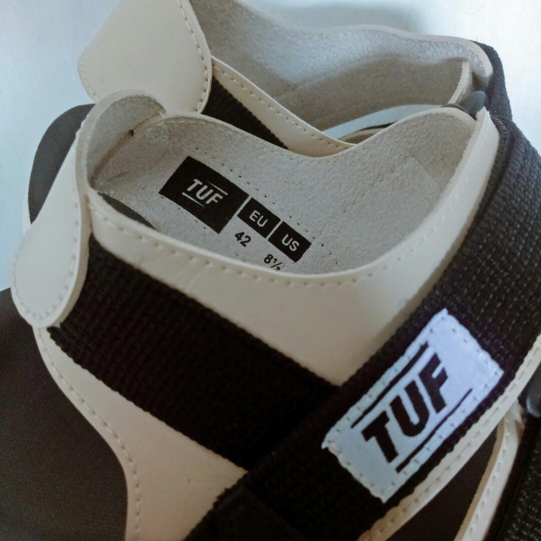 TUF sandal gunung/urban sandal black cream