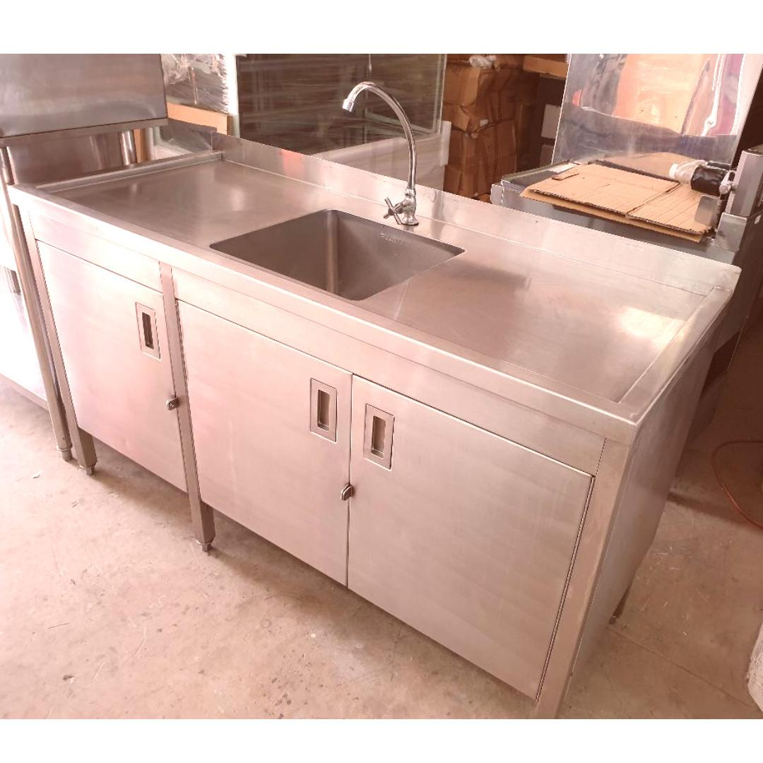 Used Stainless Steel Sink Cabinet Home