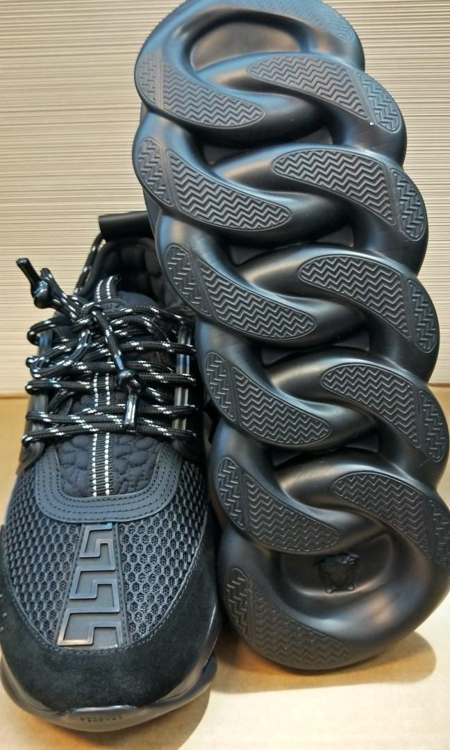 Versace Chain Reaction Triple Black, Luxury, Shoes on Carousell