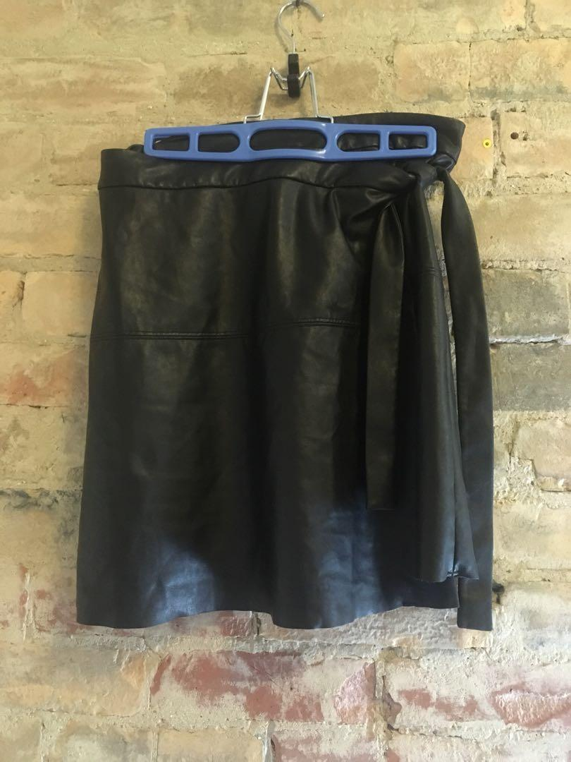 Last chance before she's donated! Wilfred Free leather wrap skirt