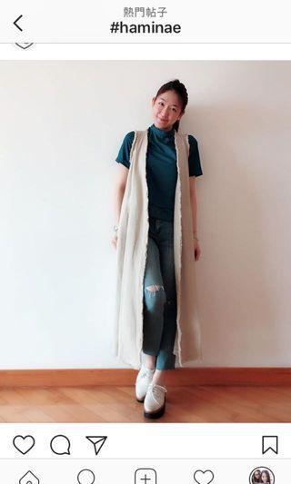 香港設計師 Birthmark 麻色背心長外套