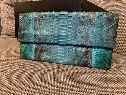 Authentic Snake Skin Clutch