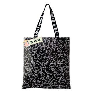 『 A BATHING APE 』2018 秋冬 (黑色仿皮CAMO Tote bag ) ($65)