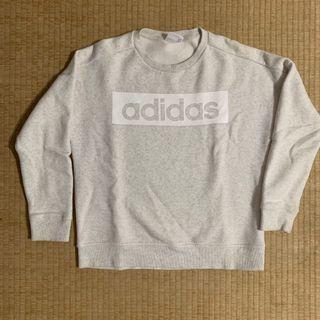 Adidas 刷毛 大學T 女版 L號
