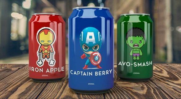 Avenger canned drinks!