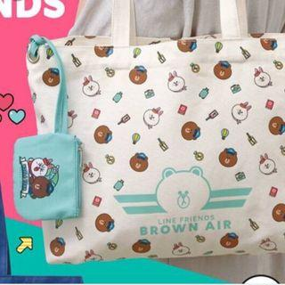 LINE FRIENDS TOTES BAG 100%NEW