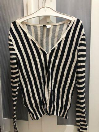 H&M Stripes Cardigan