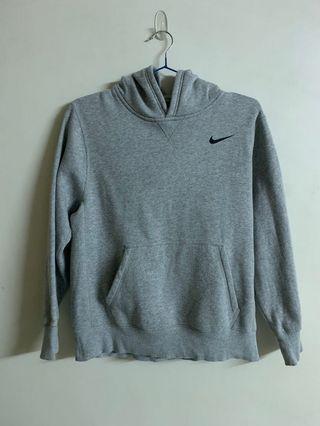 Nike 大童 帽T 內刷毛 灰