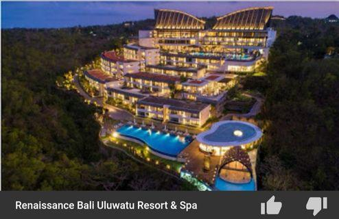 Travel - 3Days 2Night w Breakfasts for 2pax (Renaissance Bali) Marriott International Hotels Room Stay Voucher Gift Letter For Sale