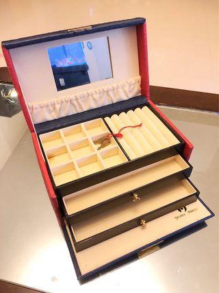 駝鳥皮高級飾物盒