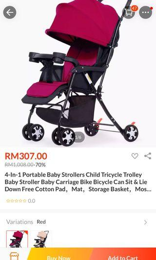 Baby trolley- stroller