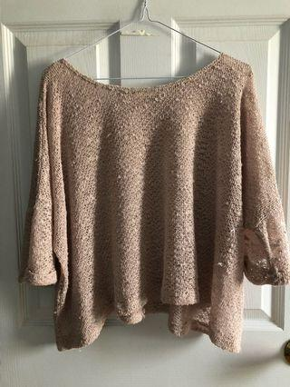 Loose fit woven top