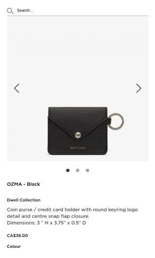 Matt & Nat Ozma Coin Purse (Colour: Fig)