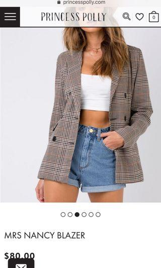 Checked Blazer princess polly