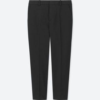 UNIQLO WOMEN Dry Stretch Cropped Pants - BLACK